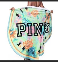 "NWT Victoria's Secret PINK Round Circle Beach Towel 55"" TROPICAL FLORAL ... - $27.95"