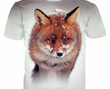 Plstar cosmos the fox in the snow print 3d tee tops men women animal t shirts 14 thumb155 crop