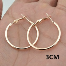 Big Small Circle Hoop Earrings for women Female Fashion brand rose gold ... - $17.64
