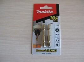 Makita B-28167 2psc Impact GOLD Torsion Bit PH1 50mm Screwdriver - $7.29