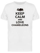 Keep Calm Love Chameleons Men's Tee -Image by Shutterstock - $311,55 MXN