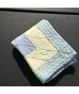 "Blue Yellow Quilted Standard Pillow Sham Eddie Bauer Home 33"" x 26"" - $19.34"