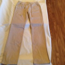 Justice pants Girls Size 14 simply low straight khaki uniform pants - $15.99