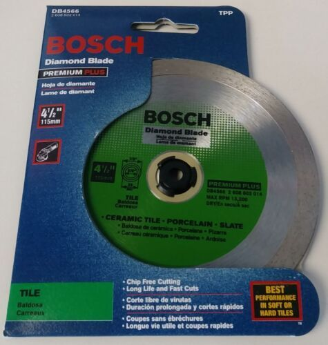 "Bosch DB4566 4-1/2"" Premium Plus Tile Diamond Blade  - $13.86"