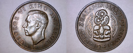 1941 New Zealand Half 1/2 Penny World Coin - $24.99