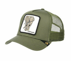 Goorin Bros Snapback Mesh Cap Animal Farm Trucker Hat Olive Elephant