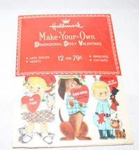 Vintage Hallmark Valentine Cards Sealed Unused Make Your Own Dimensional Doily - $42.75