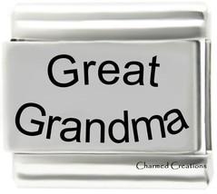 Great Grandma 9mm Italian Charm Laser Etched Modular Link - $7.87