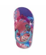 NEW Girls Toddler or Child Trolls Poppy Flip Flops Size 11/12 Large - $10.99