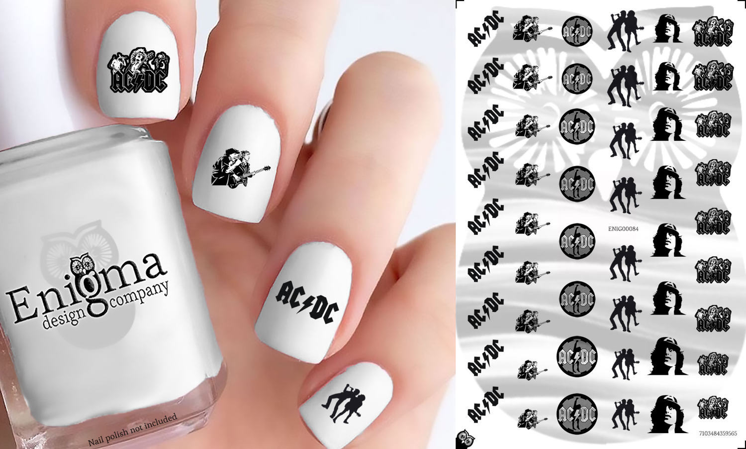 AC/DC Nail Decals (Set of 51) - $4.95