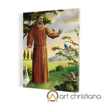 """An item in the Collectibles category: Saint Francis painting, print on canvas 19,68"""" x 27,55"""""""