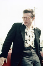 James Dean candid in glasses & sport jacket leaning on car 18x24 Poster - $23.99