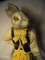 Vaillancourt Folk Art Large Lady Rabbit 12 in Beautiful Piece Signed image 3