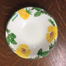 """Vintage Franciscan Yellow MEADOW ROSE 6"""" Cereal Dessert Bowl Flowers Floral USA - $4.99"""