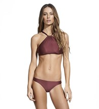 ViX SWIMWEAR BURGUNDY THAI HIGH NECK HALTER BRAZILIAN BIKINI TOP (M) NWT... - $1.555,20 MXN