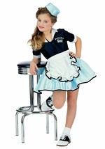 Rubies 1950s Car Hop Diner Waitress Girl Childrens Halloween Costume 884921 - $23.99