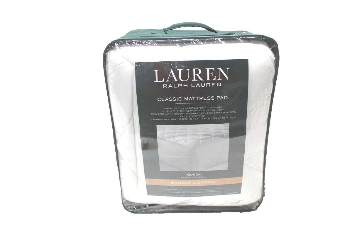 New Ralph Lauren Classic Mattress Pad Bronze Comfort Queen