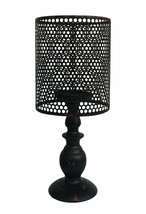 """Metal Vintage Look Table Candle Holder Candle Lamp Home Decor, Black 14""""... - $18.88"""