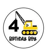 "30 4TH BIRTHDAY CONSTRUCTION TRUCKS ENVELOPE SEALS LABELS STICKERS 1.5"" ... - $4.99"