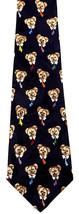 Dogs In Ties Men's Neck Tie Novelty Dogs Animal Dress Navy Blue Necktie - $13.51