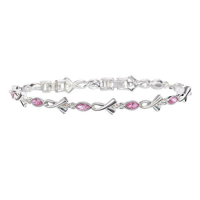 Avon Pink Hope Tennis Bracelet