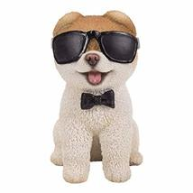 Pacific Giftware PT Short Hair Boo Dog with Black Sunglasses Home Decorative Res - $24.74