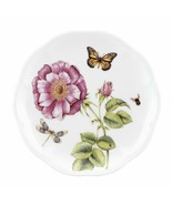 """1pc Lenox Butterfly Meadow Bloom Accent Plates  9"""" PINK FLOWERS   - $20.55"""