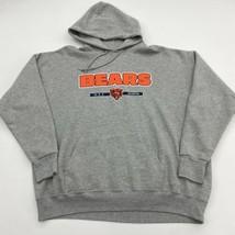 Chicago Bears Drawstring Hoodie Men's Size XL Long Sleeve Gray Cotton Blend - $18.95