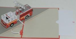 Lovepop LP1519 Fire Truck Red Pop Up Card White Envelope Paper Cellophane Wrap image 4