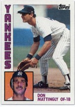1984 Topps #8 Don Mattingly Yankees NM-MT (RC - Rookie Card) - $33.99