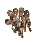 "Lot of 10 Pcs. X 3.0"" Palm Wood Small Spoons Sugar Seasoning Salt Spoons - $7.10"