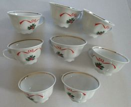 Lot of 8 MADE in POLAND Southington BASKET OF CHEER teacups - $25.00