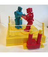 Rock em Sock em 2001 Vintage Mattel Two Player Red and Blue Robot Game - $29.69