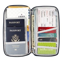 Travel document organizer & Travel wallet & Passport holder Green - $7.26