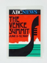 Ronald Reagan Vintage Press Pass the Venice Summit 1987 ABC News Credent... - $98.95