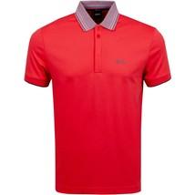 Hugo Boss Men's Short Sleeve Regular Fit Paddy 1 Bright Red Polo Shirt SS20 image 2