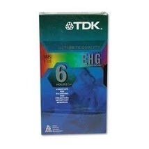TDK High Grade VHS Videotape Cassette, 6 Hours (TDK30120) Category: VCRs... - $12.00