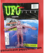 UFO FILES BENDABLE FIGURE BROWN ALIEN ~ - $11.87