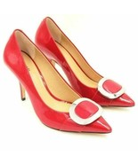 Michael Michael Kors Women Pointed Toe Pump Heel Size US 7.5M Red Patent Leather - $25.00