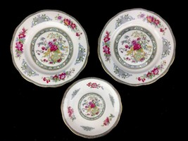 Royal Albert TREE OF KASHMIR China Two Salad Plates & Saucer Made In Eng... - $28.01