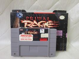 Primal Rage (Super Nintendo Entertainment System, 1995) Cartridge and Box - $19.38