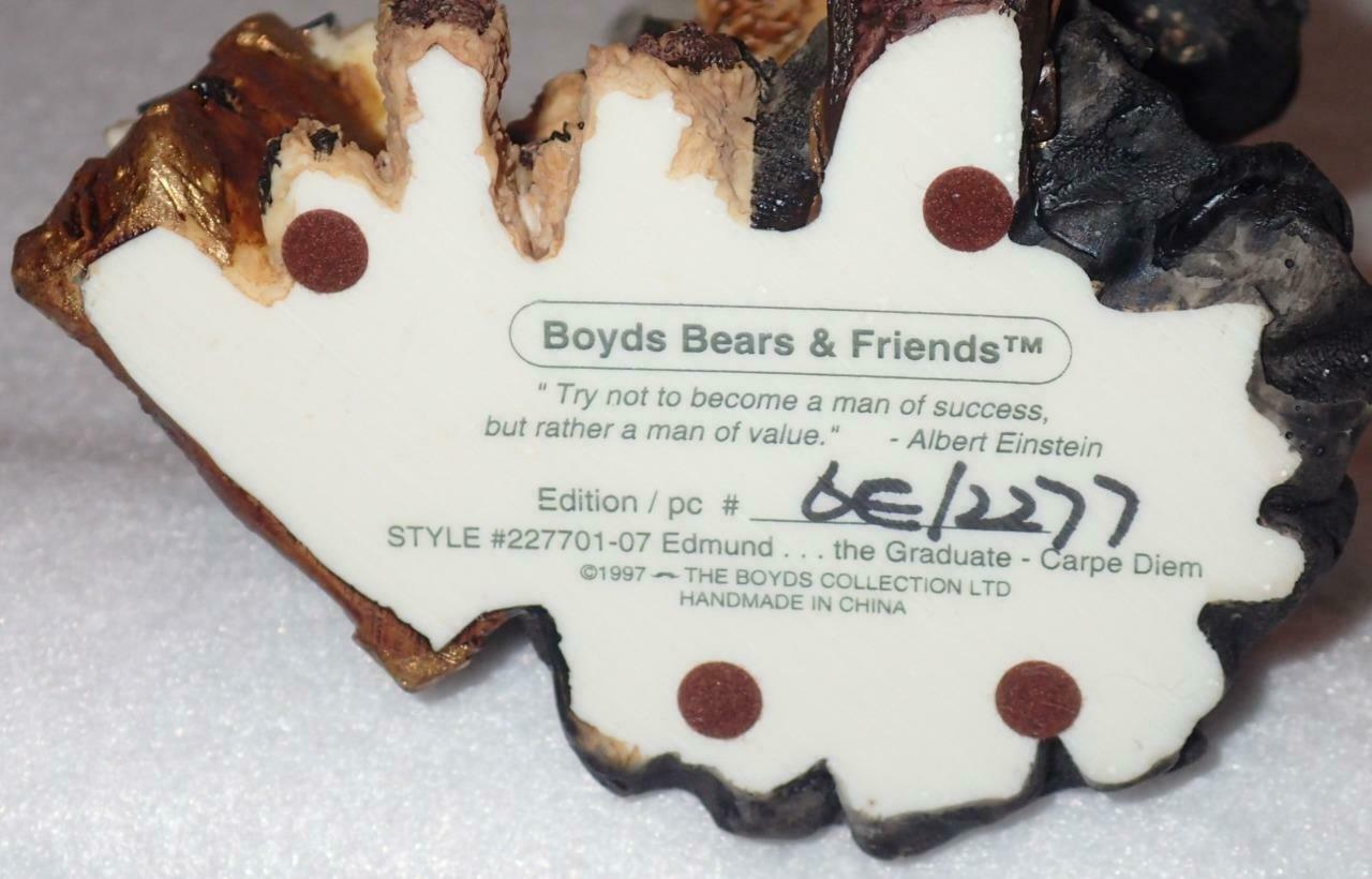 Boyd Bearstone Resin Bears Edmund The Graduate Carpe Diem Figurine 6E #227701-07 image 4