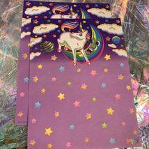 3 Sheets Vintage Lisa Frank Markie The Unicorn Stationery EXC COND HTF image 3