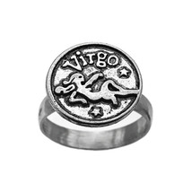 Virgo Maiden Ring sterling silver 925 Round Zodiac Astrology Jewelry Pic... - $29.99