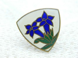 VTG A. AUGIS LYON French France Iris Enamel Cloisonne Pin Brooch - $99.00
