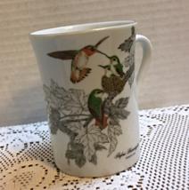 Vintage Otagiri Japan RUFOUS HUMMINGBIRDS Porcelain Coffee Mug Retro Cup - $9.00