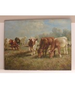 """ANTIQUE OIL ON BOARD OF A COUNTRYSIDE LANDSCAPE SIGNED """"BREMEN"""" - $1,200.00"""