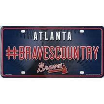 atlanta braves #bravescountry mlb baseball fan license plate made in usa - $27.07