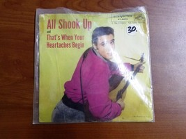 "Elvis Record 45 ""All Shook Up"" With Original Sleeve - $14.84"