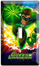 GREEN LANTERN SUPER HERO EARTH GUARDIAN RING SINGLE LIGHT SWITCH WALLPLA... - $8.99